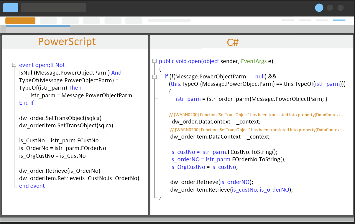 PowerScript Port to C#